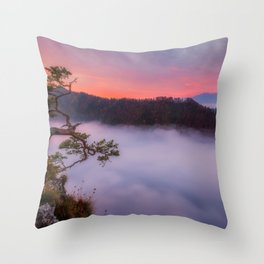 Above the couds Throw Pillow