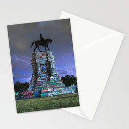 close up: Lightning Over Marcus David Peters Circle Stationery Cards