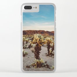 Cholla Cactus Garden II Clear iPhone Case