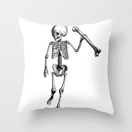 Skeleton of Social Justice Throw Pillow