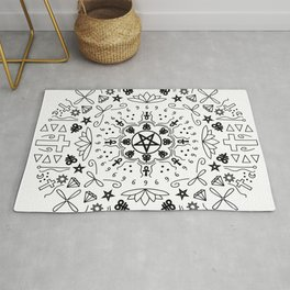 Satanic Mandala - White Rug