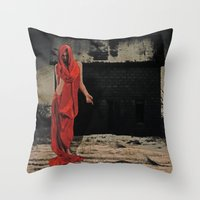 welcome Throw Pillows featuring Welcome by Galen Valle
