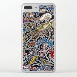 Prawns, gambas and shrimps for ocean lovers, marine biologists and scuba divers Clear iPhone Case