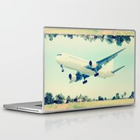 plain Laptop & iPad Skins featuring Plain / Plane by Amiee Groundwater