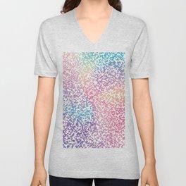 Abstract lavender pink ombre modern pattern Unisex V-Neck