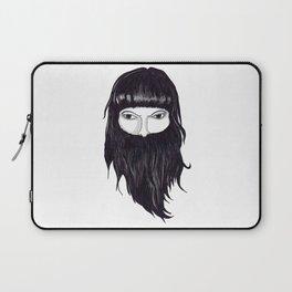 femme à barbe Laptop Sleeve