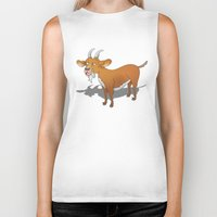 goat Biker Tanks featuring Goat by mailboxdisco