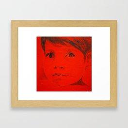 Child in red Framed Art Print