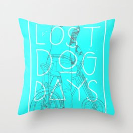 LOST DOG DAYS Throw Pillow