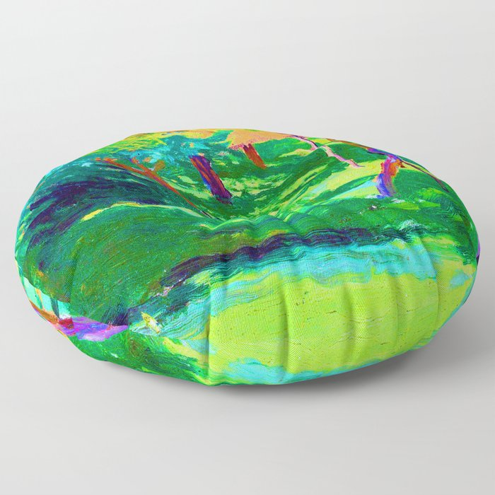Jozef Mehoffer Strange Garden Floor Pillow