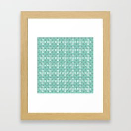 Emerald Twist Framed Art Print