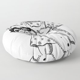 Raggedy Ann with a Chainsaw Floor Pillow