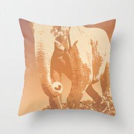 EVENING ELEPHANT Throw Pillow