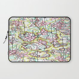 Three Leaves on the Cherry Blossom Laptop Sleeve