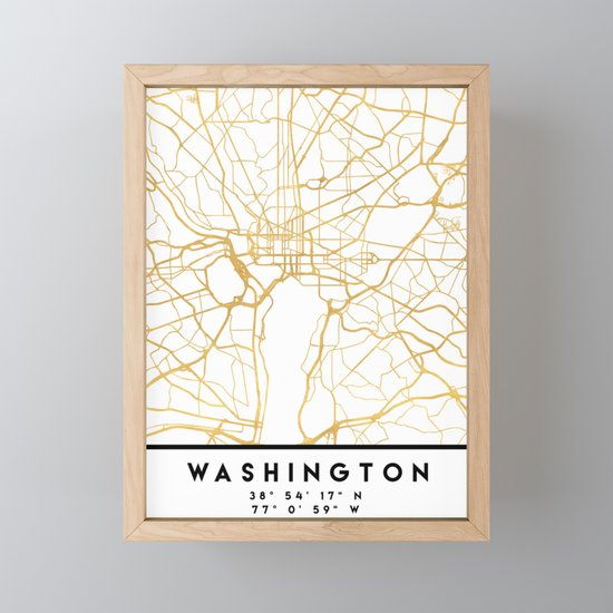 WASHINGTON D.C. DISTRICT OF COLUMBIA CITY STREET MAP ART by deificusart
