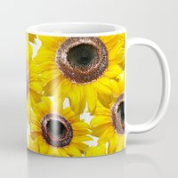 sunflowers Mugs featuring Sunflowers by Regan's World