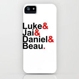Luke& Jai& Daniel& Beau. iPhone Case