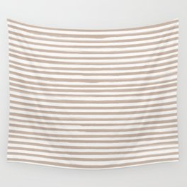 Skinny Stroke Horizontal Nude on Off White Wall Tapestry