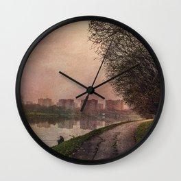 Fisherman (stylized watercolor) Wall Clock