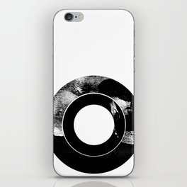 Zen Black and White Abstract Record iPhone Skin