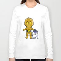 c3po Long Sleeve T-shirts featuring C3PO by Jasmine Victoria