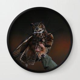 owl bird photo Wall Clock