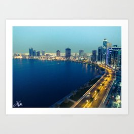 Sharjah Corniche - United Arab Emirates Art Print