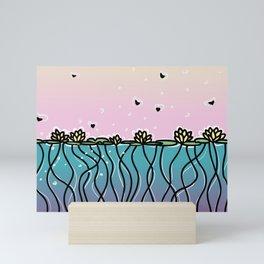 Underwater Lilies Mini Art Print