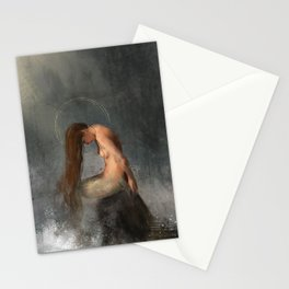 Pensive Mermaid Stationery Cards