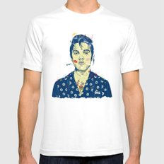 WTF? ELVIS MORNING PARTY White SMALL Mens Fitted Tee