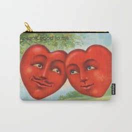 Vintage Postcard - Valentine Hearts Carry-All Pouch