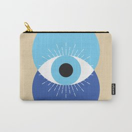 Evil Eye Symbol Mid Century Modern Art 70s Style Carry-All Pouch