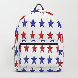 Blue and Red Stars Backpack