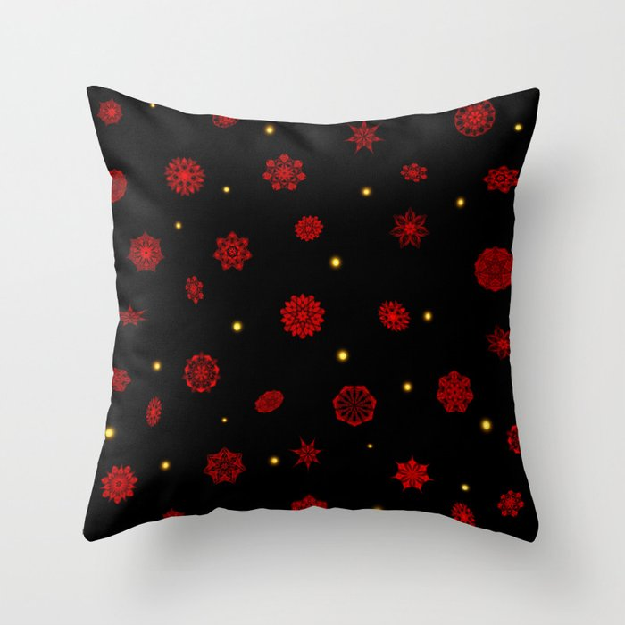 Fire in the Night Throw Pillow