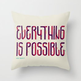 Unlikely Throw Pillow