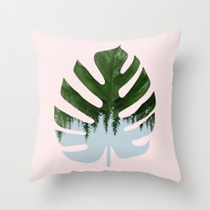 Monstera #society6 #decor #buyart Throw Pillow