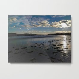 crescent beach reflections Metal Print
