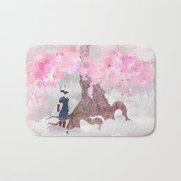 Tengami - Winter Cherry Tree (Portrait) Bath Mat