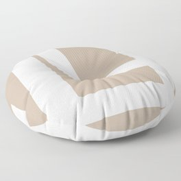 Neutral Abstract 5A Floor Pillow