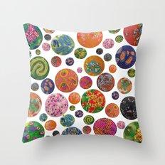 Petri Dish Polka Dot  Throw Pillow