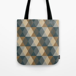 Caffeination Geometric Hexagonal Repeat Pattern Tote Bag
