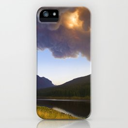 Smoke in the Air - Bozeman, Montana iPhone Case