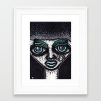 goth Framed Art Prints featuring GOTH by NICHOLAS PRICE ART PRINTS
