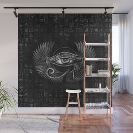Egyptian Eye of Horus - Wadjet Digital Art Wall Mural