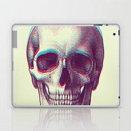 duotone vintage skull Laptop & iPad Skin