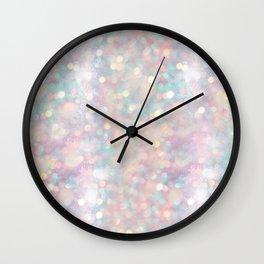 Glitter shiny background Wall Clock