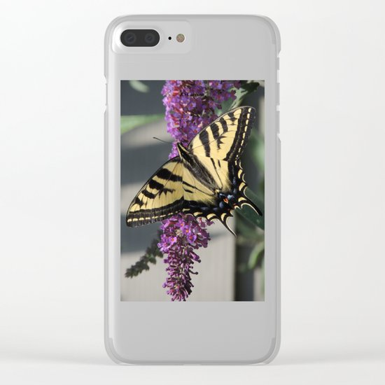 Western Tiger Swallowtail in the Shade Clear iPhone Case