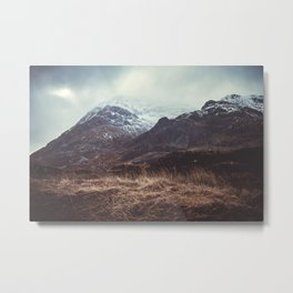 A Storm in the Highlands Metal Print