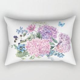 Summer Vintage Hydrangea Rectangular Pillow