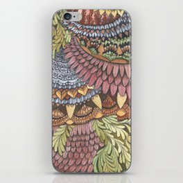Quilted Forest: The Owl iPhone Skin